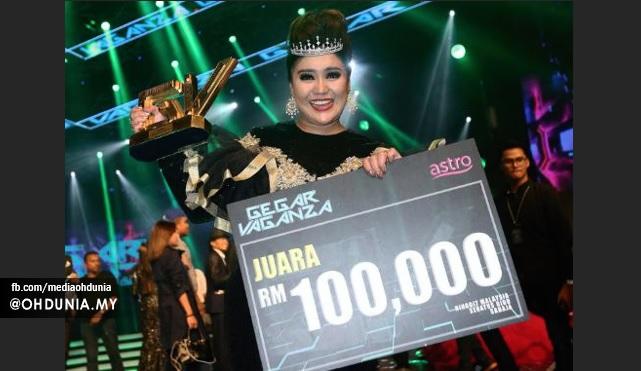 Azharina Juara Gegar Vaganza 3, Bawa Pulang RM100,000