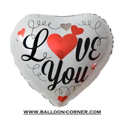 Balon Foil Hati Motif Pure Love