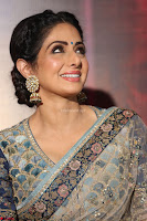 Sri Devi in designer saree stunning beauty at the launch of MOM movie Trailer~  Exclusive 119.JPG