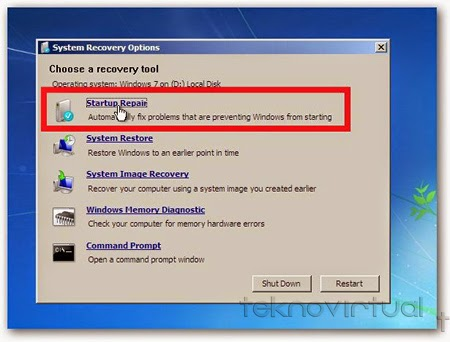 Startup Repair Windows 7
