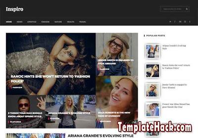 inspiro multipurpose blogger template