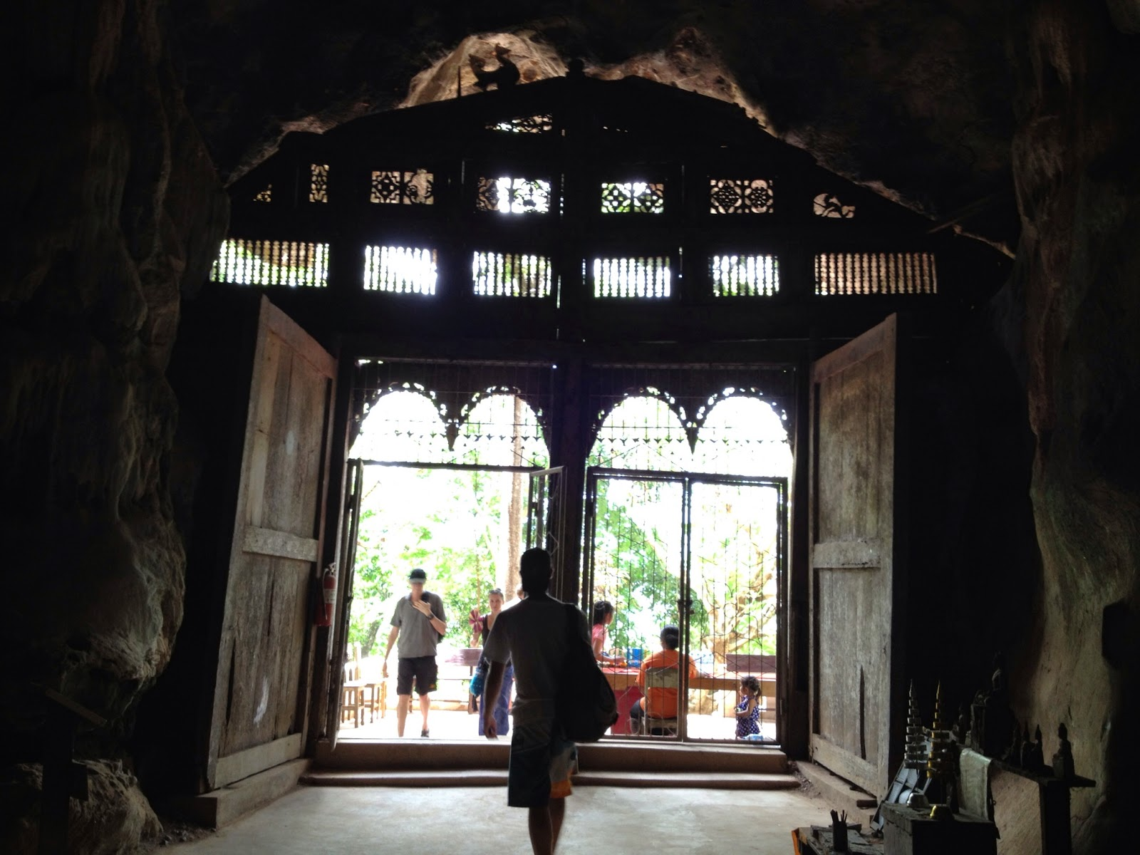 Luang Prabang - After a short hike you come to a second cave of buddhas