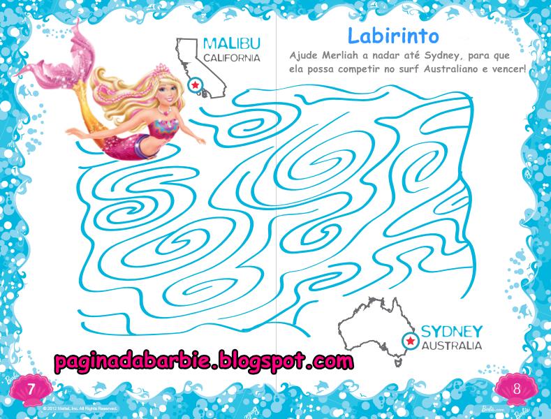Pagina Da Barbie Barbie Vida De Sereia 2 Livro De Atividades