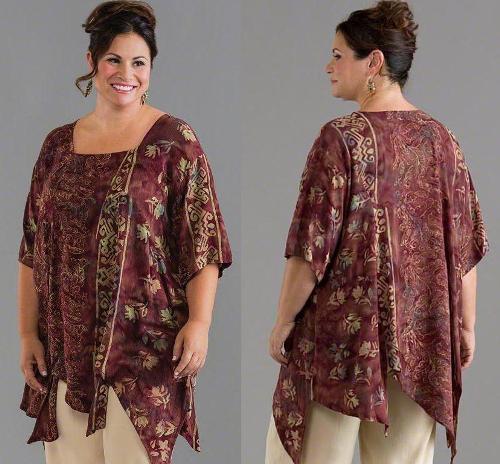 Model Baju Batik Wanita 2015: Model Baju Atasan Wanita Gemuk Dan Tampil Lebih Percaya Diri