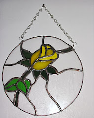 Yellow Rose Copperfoil Hanger