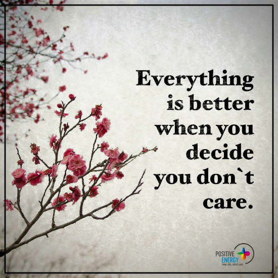 Everything Is Better When You Decide You Dont Care Dont Care