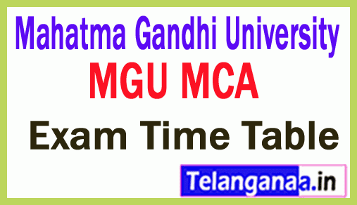 Mahatma Gandhi University Nalgonda MCA Exam TimeTable