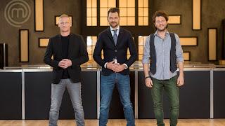 Donna Hay, Nick Bril, Ben Ungermann, Edwin Vinke en Joris Bijdendijk gastjuryleden in MasterChef Nederland
