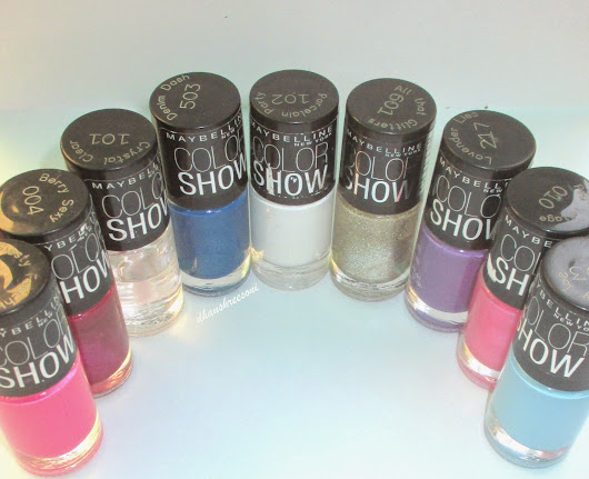 Maybelline color show nailpaints haul, review, swatches and NOTD's