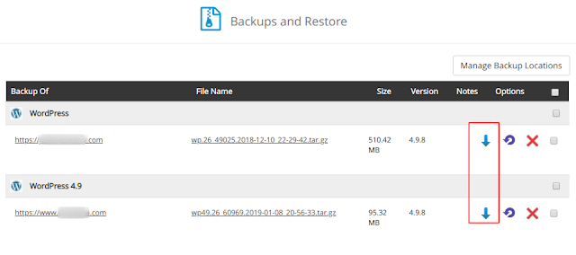 Cara Restore Manual Wordpress Hasil Backup Softaculous
