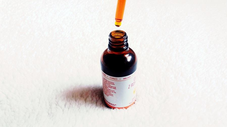 Olej do pielęgnacji skóry ciała i twarzy - olej z rokitnika.