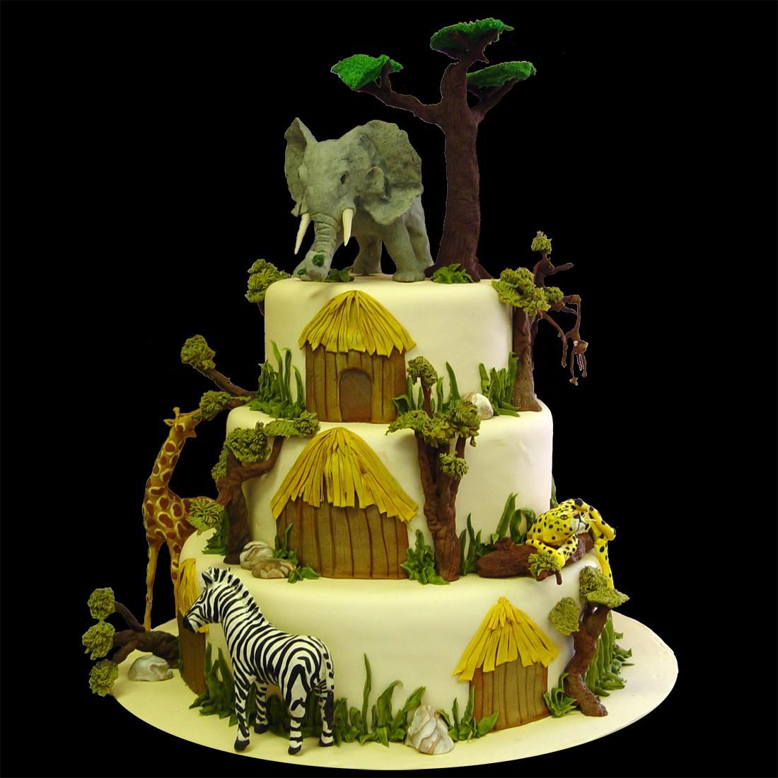 Zoo Animal Birthday Cakes