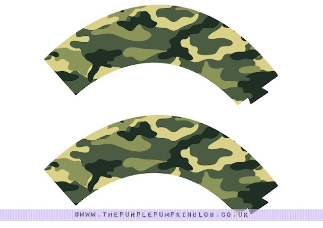 Army Military Camo #Cupcake Wrappers - Free #Printable