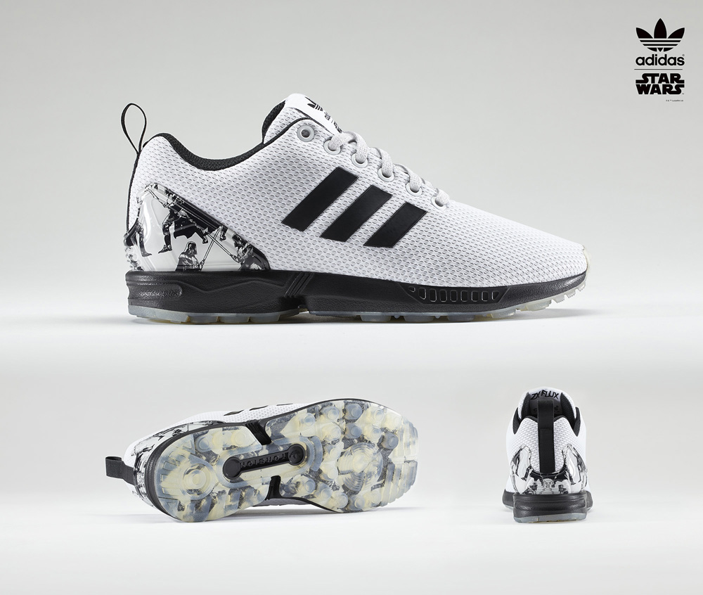 015a2d835c8 A Adidas já no habituou a lançamentos de vestuário e calçado com a temática  Star Wars.Esta nova coleção da linha Z Flux
