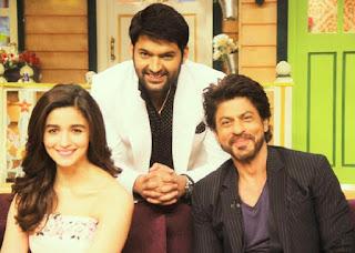 Kapil Sharma With Shah Rukh Khan And Alia Bhatt In His Show