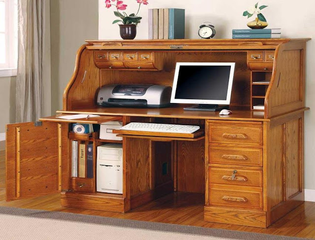 best buy home office ideas with roll top desk pine and keyboard drawer