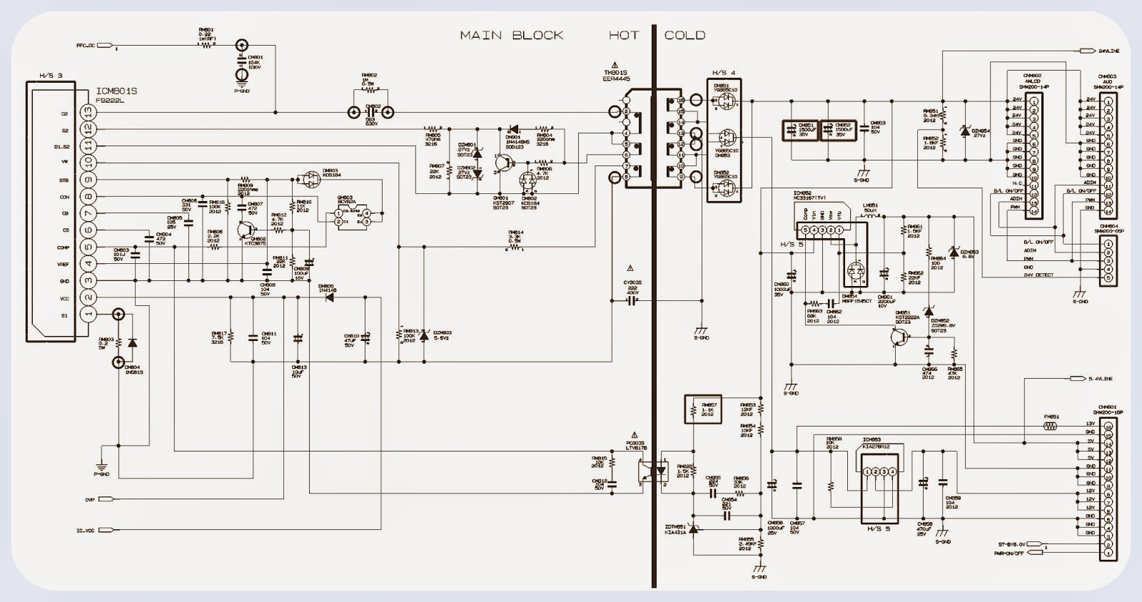 bn-7997 - inverter - samsung lcd tv - schematic | electro help samsung schematic diagrams