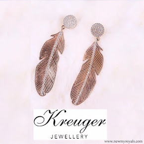 Crown Princess Victoria wearrind Kreuger Jewellery Summer Feather Earrings