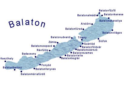 Balaton - mapa
