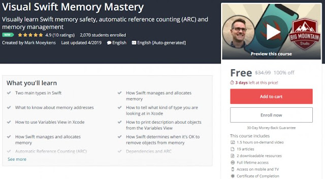 [100% Off] Visual Swift Memory Mastery| Worth 34,99$