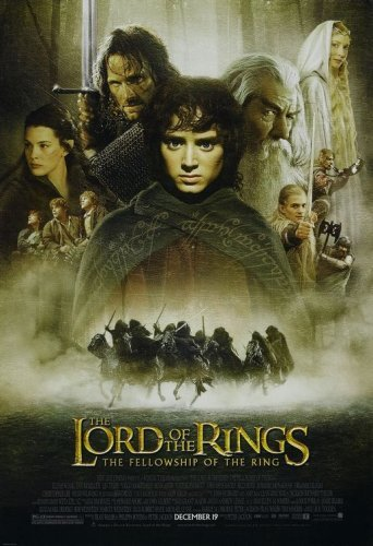 Poster Of The Lord of the Rings 2001 ExTended 720p Hindi BRRip Dual Audio Full Movie