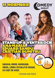 Stand-Up Comedy marti 15 noiembrie Bucuresti Beraria H