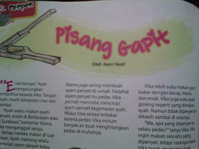 Arisan Link; Mengenang Cerpen Anak Majalah Bobo bersama Hairi Yanti's Blog Pisang Gapit a la Hairi Yanti's Blog