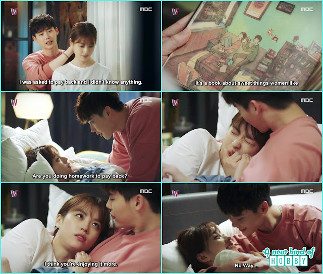 yeon joo and kang chul bed kiss - W - Episode 7 Review - Korean Drama 2016