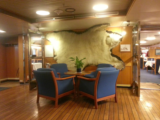 Hurtigruten MS Lofoten - Lobby Seating Area and Polar Bear Fur