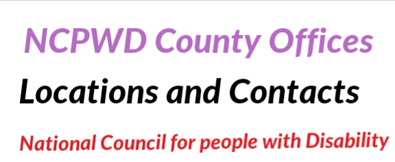 County (NCPWD) office location and contacts
