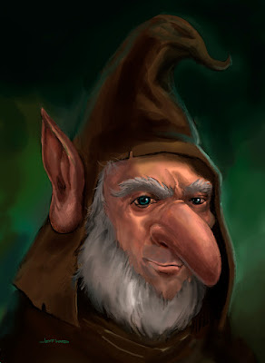 Woodland Goblin Painting by Jeff Ward