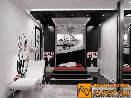 id es d 39 clairage chambre platre. Black Bedroom Furniture Sets. Home Design Ideas
