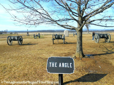 Gettysburg Battlefield - The Angle Monument and Memorial Area