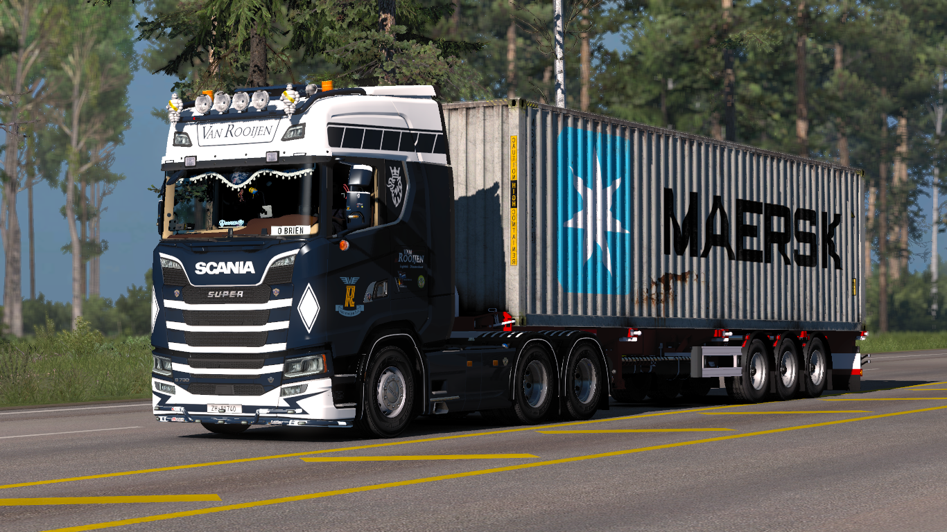 New Scania R & S series V8 stock sound Updated - Euro Truck