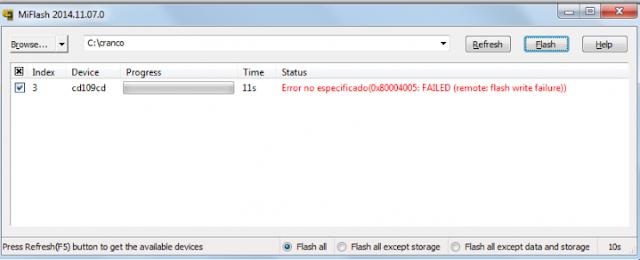 Cara Atasi Error Remote: Flash Write Failure Xiaomi Pada Aplikasi Mi Flash 9
