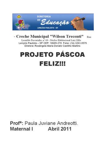 Projeto Pascoa