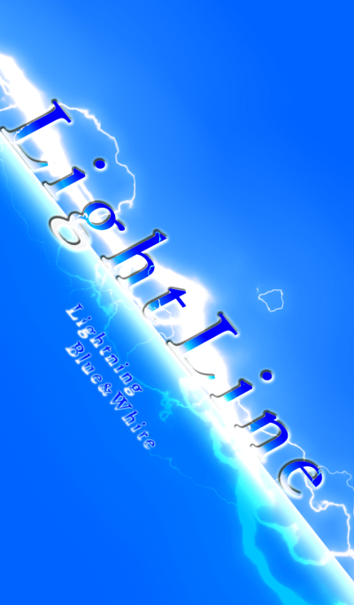 Light Line (Lightning Blue And White)