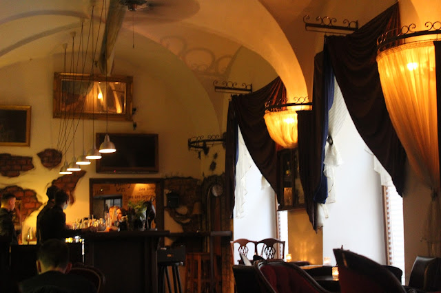 A view of the inside of Anonymous Bar Prague