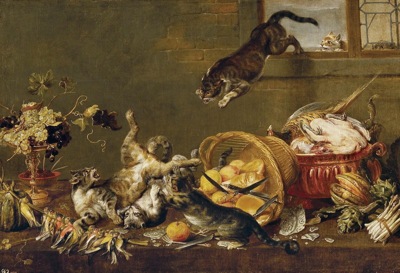 Breinwekker katten in de kunst for Dans 4