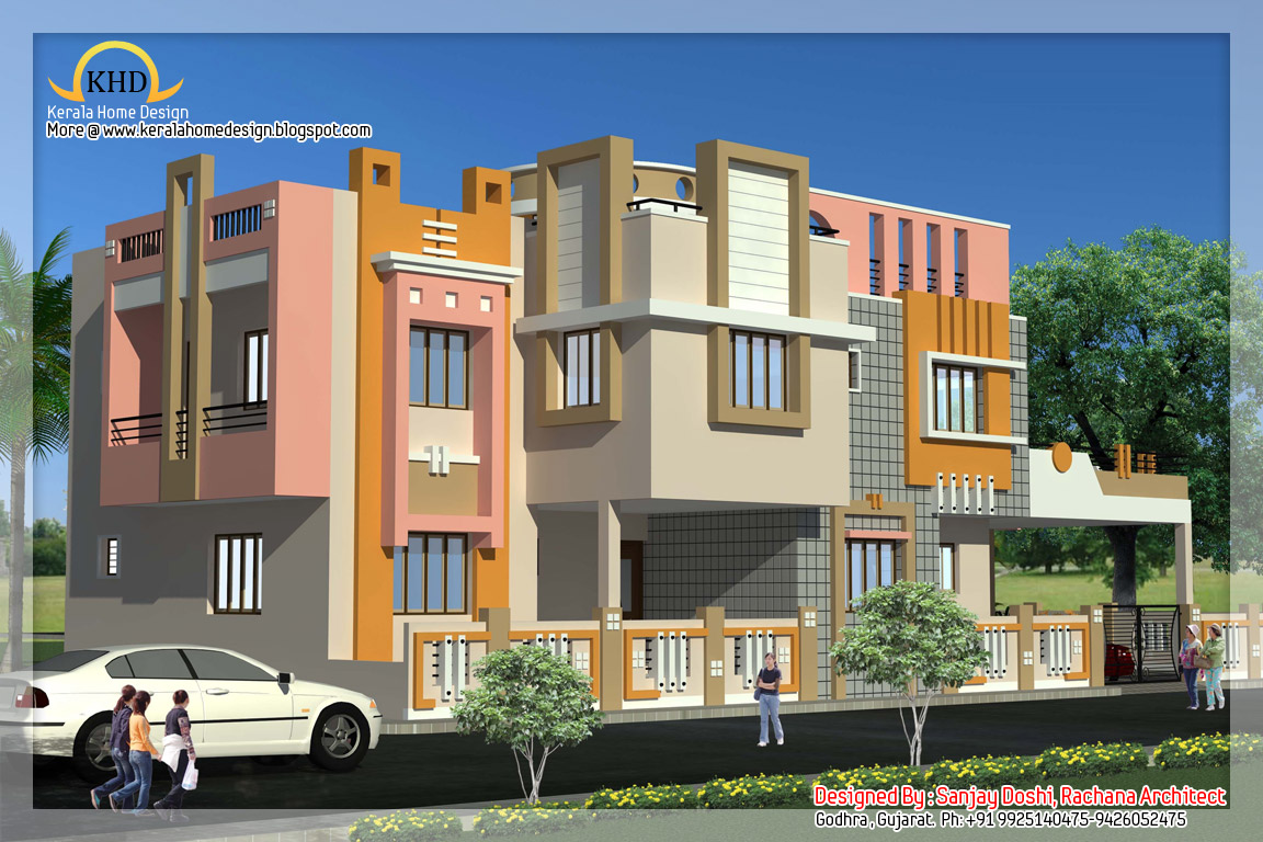 Indian style home plan and elevation design kerala home for Single floor house elevations indian style