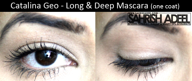 Catalina Geo Long & Deep Mascara - Review + Before & After