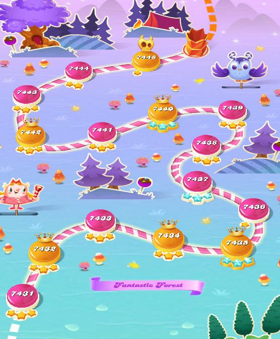 Candy Crush Saga level 7431-7445