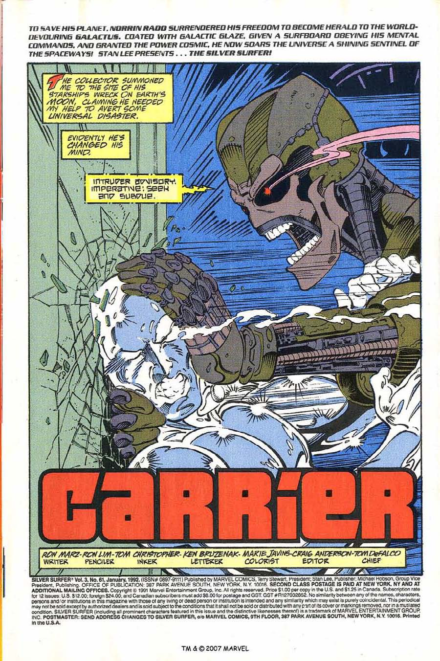 Read online Silver Surfer (1987) comic -  Issue #61 - 3