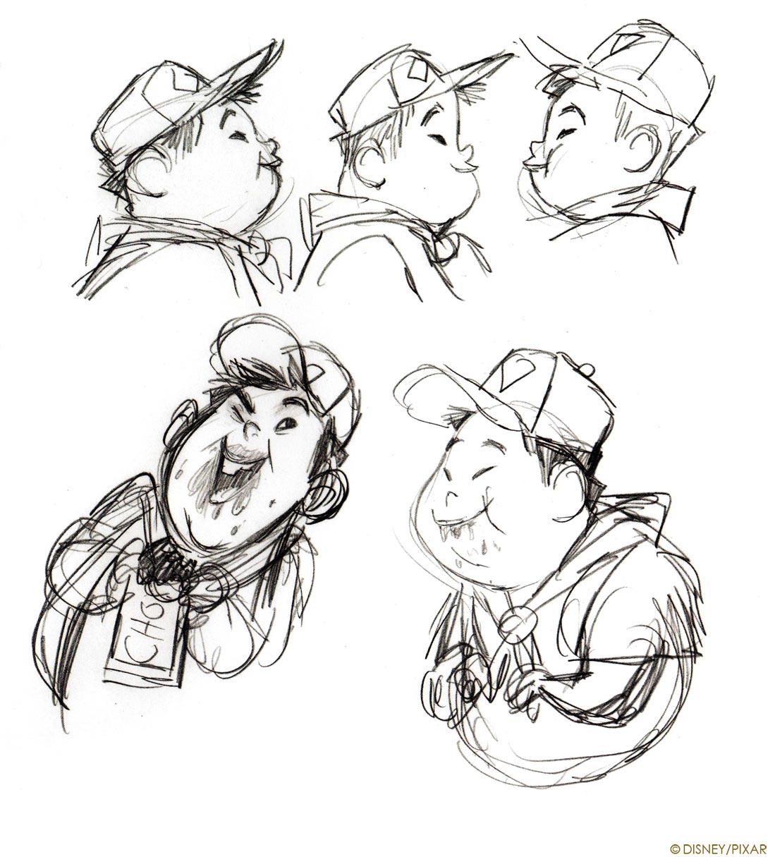 Pixar Character Design Process : Living lines library up character design