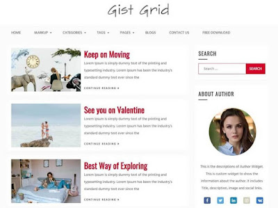Gist Grid WordPress Theme