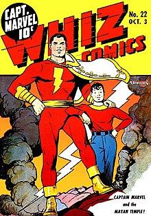 Shazam! Nem sempre pertenceu a DC, anteriormente pertencia a Editora Fawcett, ele foi ao ar para competir com o Superman, mas a DC logo notou e comprou os direitos sobre o Capitão-Marvel.  Anos mais tarde, a DC sofreu um processo da Marvel pelo uso do nome Capitão-Marvel, ela havia esquecido de registrar o nome do herói, e teve que trocar o nome da revista para Shazam! que já era o nome mais canônico que poderiam colocar, já que o grito de invocação era Shazam! E após o ultimo reboot o herói passou a se chamar Shazam!