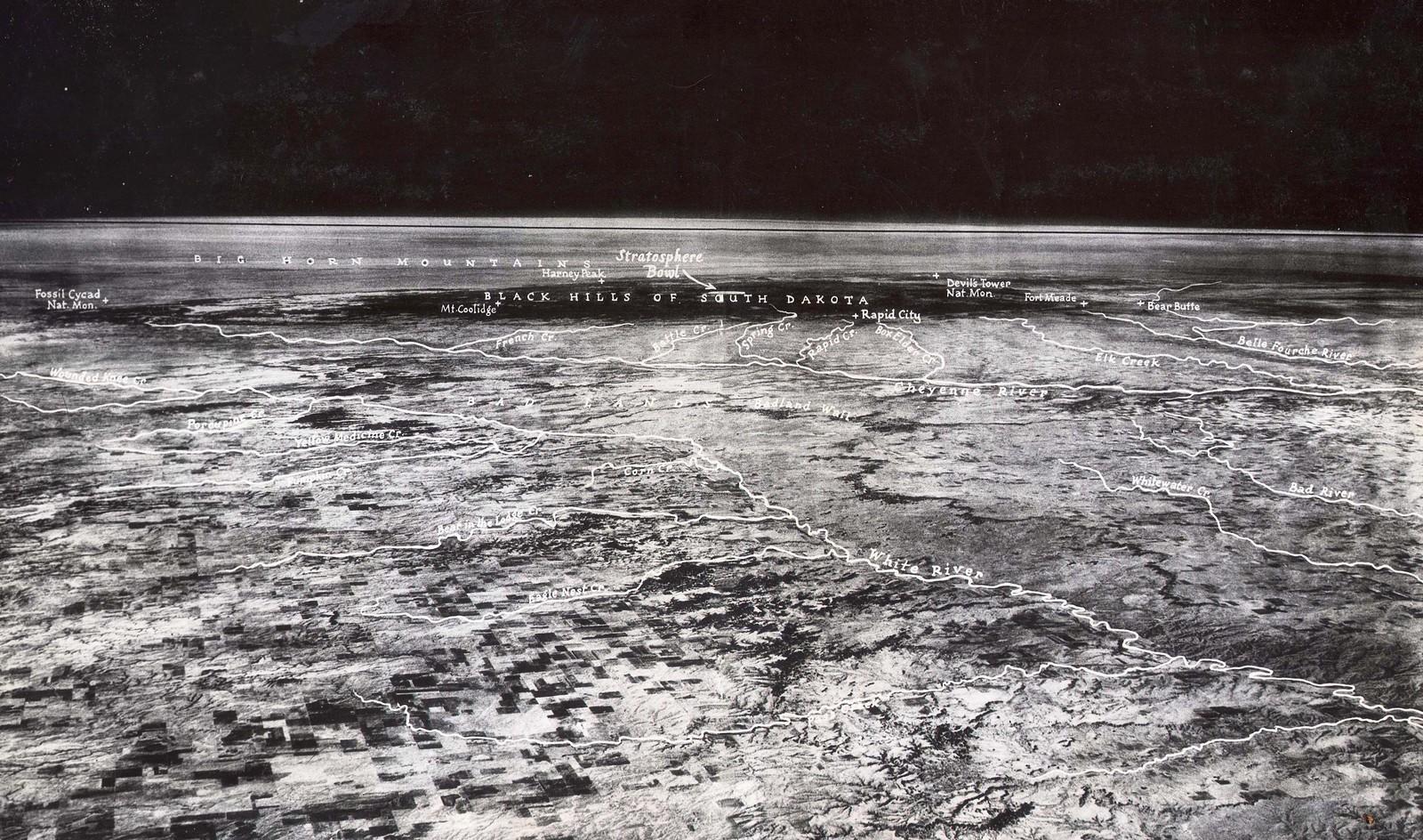 Imágen de la Tierra del globo Explorer II, lanzado en 1935