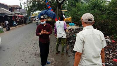 Akan Dijadikan Taman Penghijauan, Kecamatan Sepatan Bersihkan Sampah Pasar