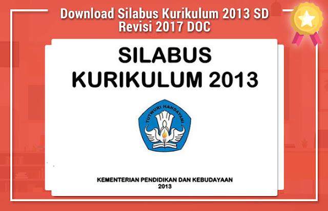 Download Silabus Kurikulum 2013 SD Revisi 2017 DOC