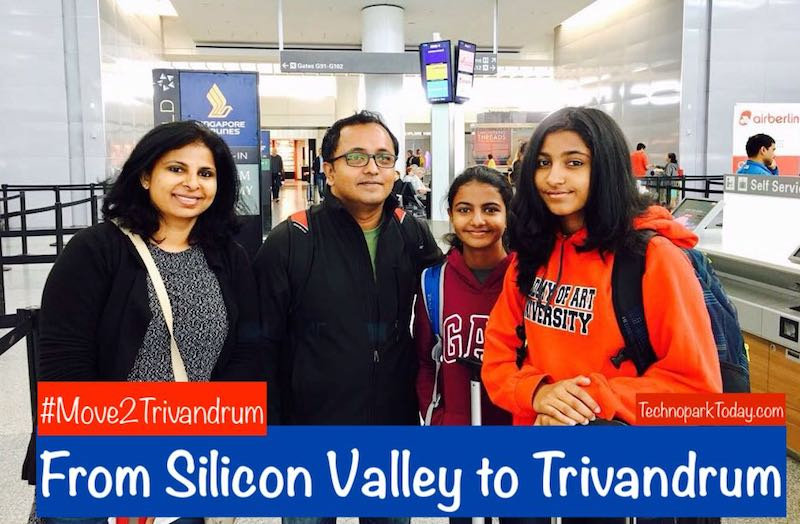Hari & Family - From Silicon Valley To Trivandrum